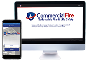 Commercial Fire Affiliate and Connection Portal on Mobile and Desktop Screens